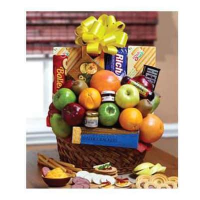 Orchard Fresh Fruit and Snacks Gift Basket