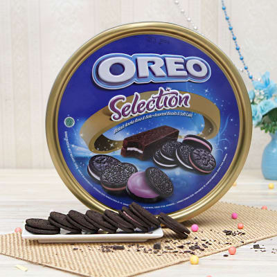 Oreo Cookies In An Oreo Selection Box Gift Send Gourmet Gifts Online