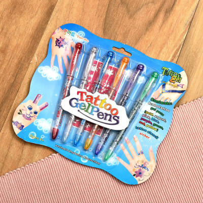 Pack of 6 Tattoo GelPens for Kids