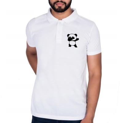 Panda Dabbing White T-Shirt for Men