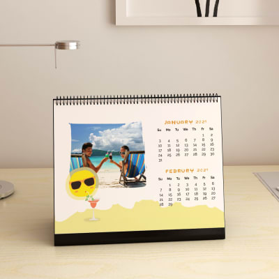 Party On Beach Personalized Desk Calendar