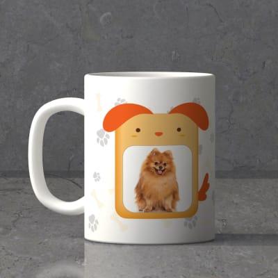 Paw Print Personalized White Ceramic Mug