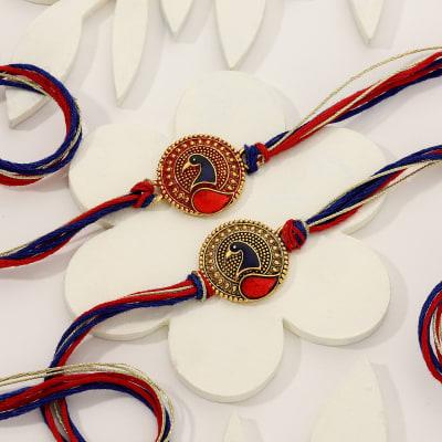 Peacock Meena Rakhi (Set of 2)
