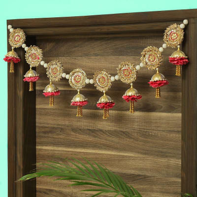 Pearl & Artificial Carnations Traditional Toran