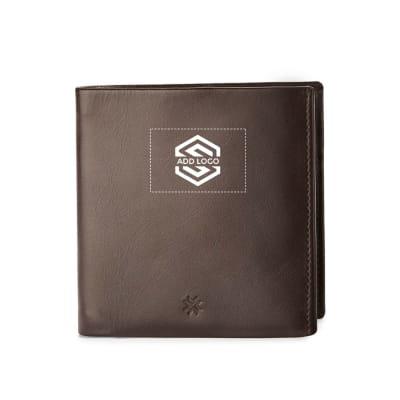 Pennline RFID Safe Slim Bifold Leather Wallet - Brown