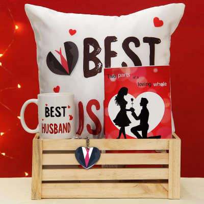 Perfect Romantic Hamper For Your Husband Gift Send Valentines Day Gifts OnlineJ11080050