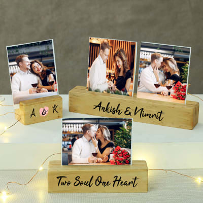 Perfect Wooden Photo Stand Set for Special One