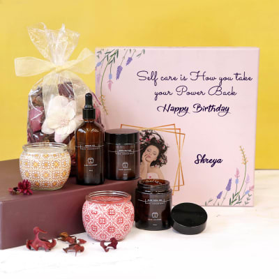 Personal Care Hamper for Birthday in Personalized Gift Box