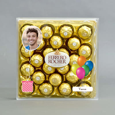 Personalised Box Of Delicious Ferrero Rocher Chocolates 24 Pcs