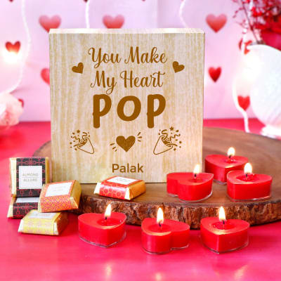 Personalised Chocolate Box With Rose Flavoured Candles