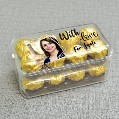 Personalised Ferrero Rocher Chocolate 16 Pcs