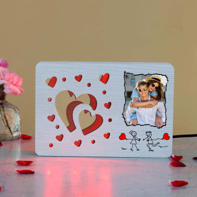 Personalized 3D Heart Design Cut Out LED Lamp