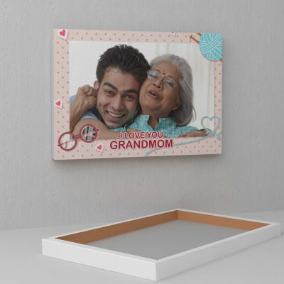 Personalized A3 Canvas for Grandma