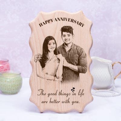 Personalized Anniversary Wooden Frame Gift Send Home And Living Gifts Online M11111297 Igp Com