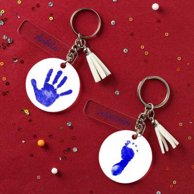 Personalized Baby Boy Keychain - Set of 2
