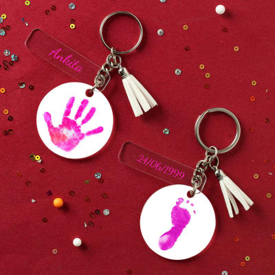 Personalized Baby Girl Keychain - Set of 2