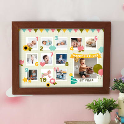 Personalized Baby Milestone Photo Frame