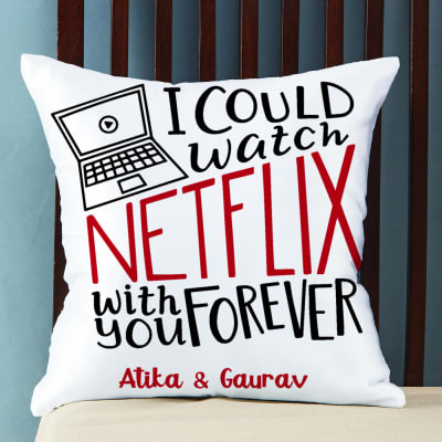 Personalized Binge Watch Love Cushion