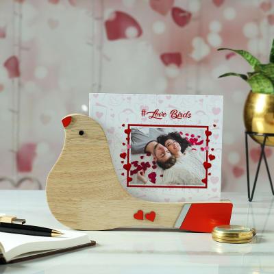 Personalized Bird Shaped Wooden Image Holder