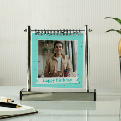 Personalized Birthday Album with Metal Stand