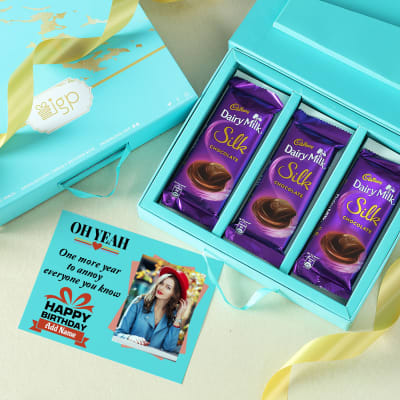 Personalized Birthday Card & Chocolates in Gift Box