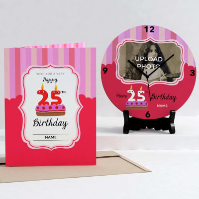 Personalized Birthday Clock & Card combo