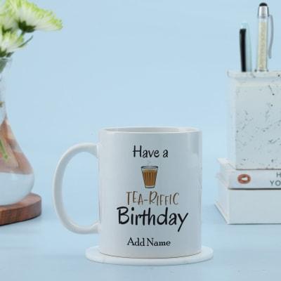 Personalized Birthday Mug for Tea Lovers