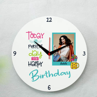 Personalized Birthday Photo Clock