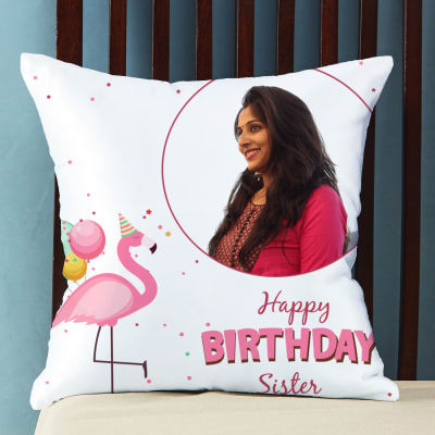 Personalized Birthday Pillow for Sister