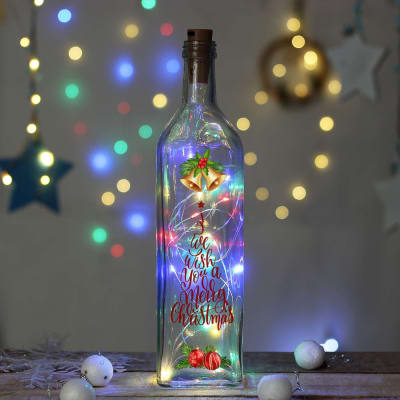 Personalized Bottle Lamp with LED for Christmas