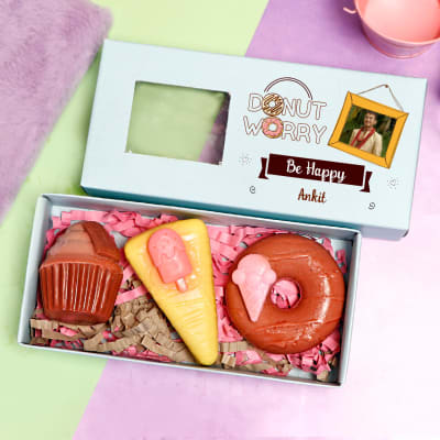 Personalized Box of Dessert Soaps - Set of 3