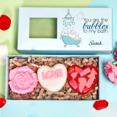 Personalized Box of Love Soaps - Set of 3