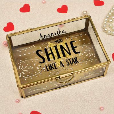 Personalized Brass Jewelry Box