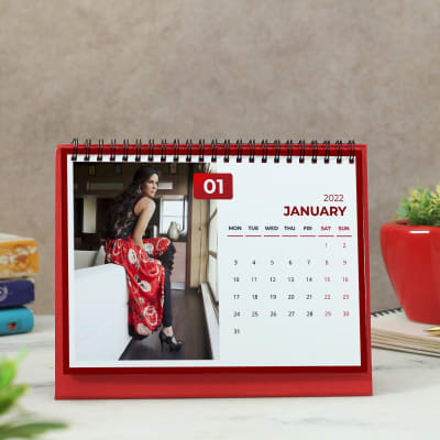 Personalized Calendar in Red