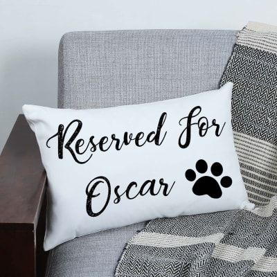 Personalized Canvas Pillow for Dogs