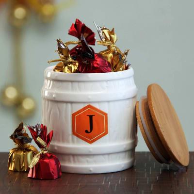 Personalized Ceramic Chocolate Jar