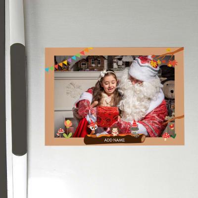 Personalized Christmas Photo Fridge Magnet