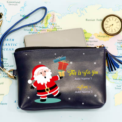 Personalized Christmas Travel Pouch