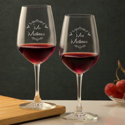 Personalized Christmas Wine Bordeaux Glass