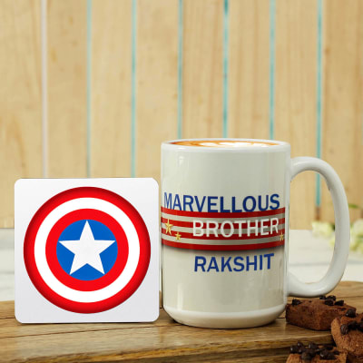 Personalized Coffee Mug with Coaster
