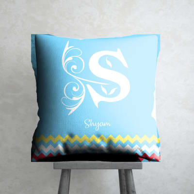 Personalized Cushion with Initial