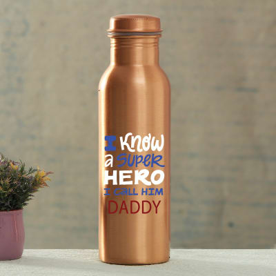 Personalized Dad Special Copper Bottle
