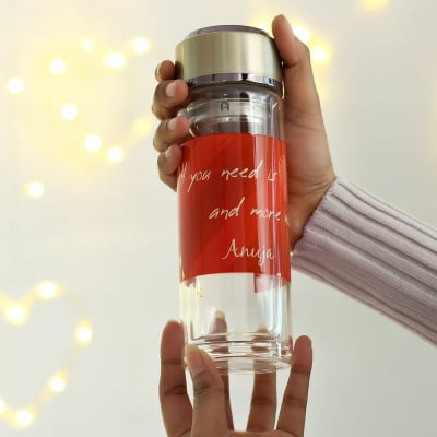 Personalized Detox Glass Bottle