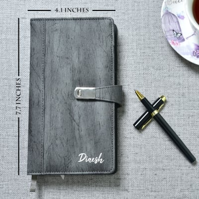 Personalized Diary With A Pen