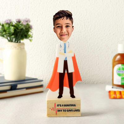 Personalized Doctor Caricature for Boy