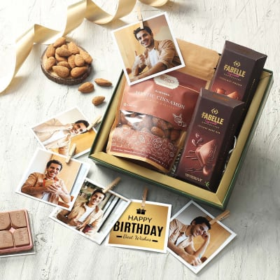 Personalized Dry Fruits and Chocolates Hamper