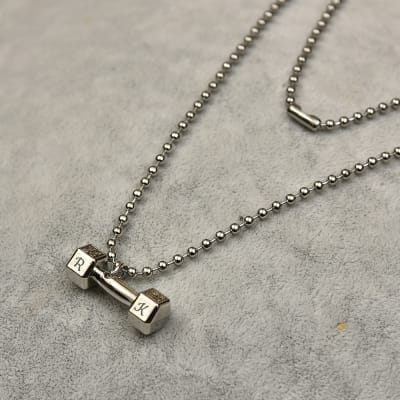 Personalized Dumbbell Necklace For Men