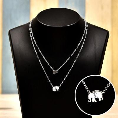 Personalized Elephant Necklace
