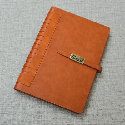 Personalized Executive Brown Leather Diary