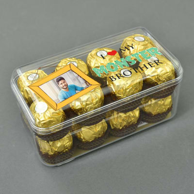 Personalized Ferrero Rocher Chocolates (16 Pcs.) for Brother